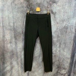 Athleta Black Stella Trouser Ankle Zipper Size 4